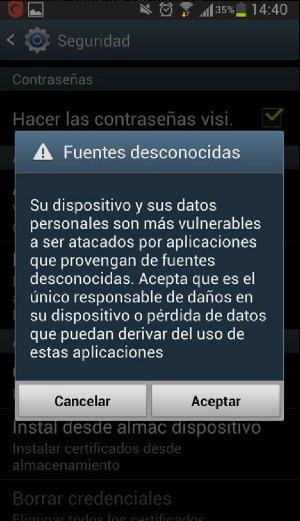 Error al Instalar Aplicaciones de Terceros en Android