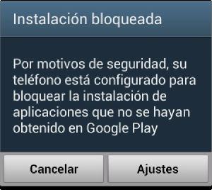 Instalacion Bloqueada en Android