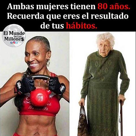 Las 2 mujeres tienen 80 años, descubre cual es la diferencia